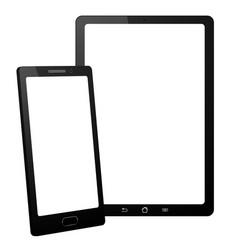 smartphone and tablet on white background vector image