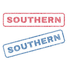 Southern textile stamps vector