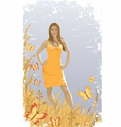 summer sunny day vector image