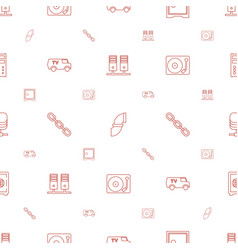system icons pattern seamless white background vector image
