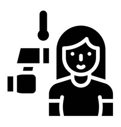 Taking temperature solid style icon vector