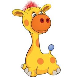 Toy giraffe cartoon vector image