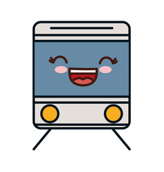 Train vehicle icon vector