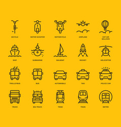 transportation icons set part i vector image