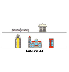 United states louisville flat landmarks vector