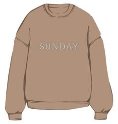 Warm fleece sweatshirt hoodie clothes vector