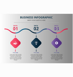 Wavy business infographic template vector