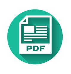 White pdf file document icon download pdf button vector