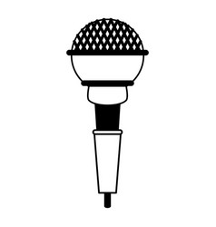 Wireless microphone icon image vector