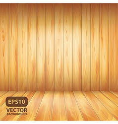 wooden wall and floor vector image
