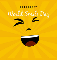 world smile day suitable for greeting cards and vector image