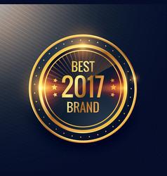 years best brand golden label badge label design vector image