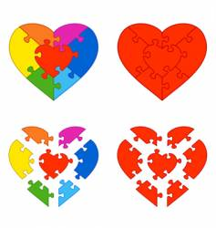 heart puzzle vector image vector image