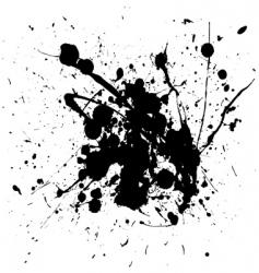 ink splats vector image vector image