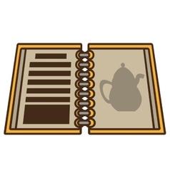restaurant menu book open vector image