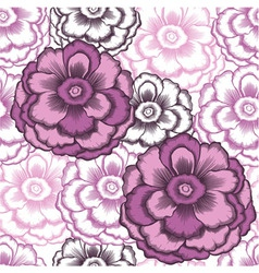 seamless decorative pattern with peonies vector image vector image