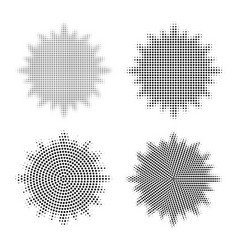 set of abstract halftone design elements abstract vector image