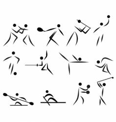 summer sport icon set vector image