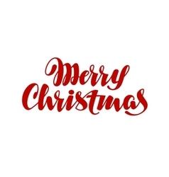 Merry Christmas handwritten lettering vector image