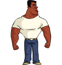muscular black man vector image