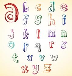 sketchy alphabet vector image vector image