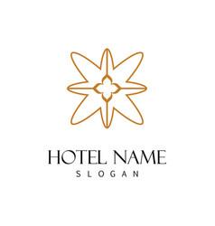 swirl decoration hotel logo vector image