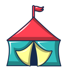 Circus tent icon cartoon style vector