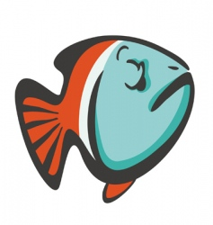 cool fish vector image vector image