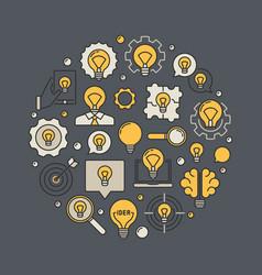 creative idea colorful vector image