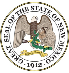 New Mexico Seal vector image