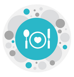 Of heart symbol on plate icon vector