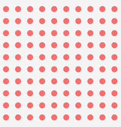 seamless background and red dot pattern vector image vector image