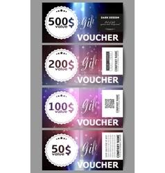Set of modern gift voucher templates flashes vector