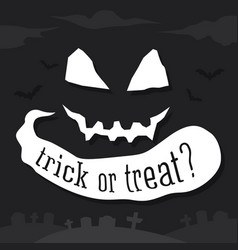 trick or treat text banner vector image