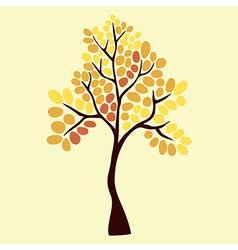 Autumn tree element for your design vector image