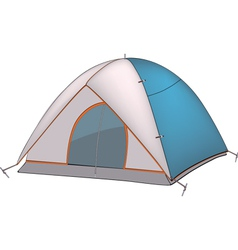 Blue tent vector image vector image