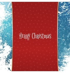 Christmas red Banner with white Snowflakes vector image vector image