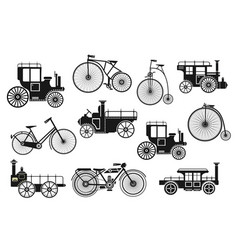 retro motorcycle bike vector image