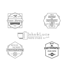 Vintage Photography Badges Labels Monochrome vector image vector image
