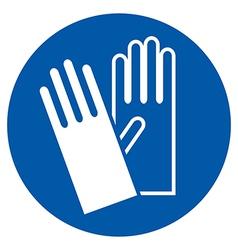 Wear gloves vector image