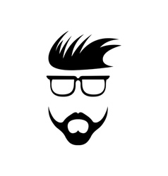 abstract hipster guy retro design template vector image