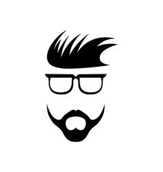 Abstract hipster guy retro design template vector