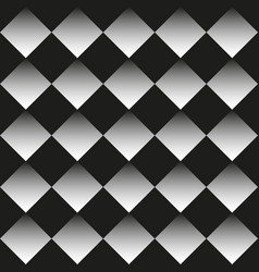 Background of black and white rhombuses vector