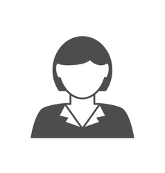 Businesswoman avatar icon vector