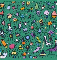 Cartoon cute doodles hand drawn grunge line art vector