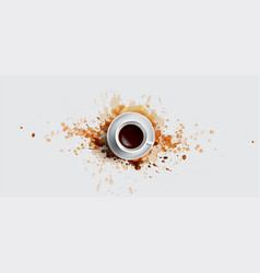 coffee concept on white background - white vector image