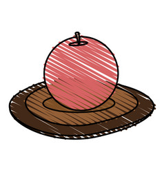 Color crayon stripe cartoon decorative circular vector