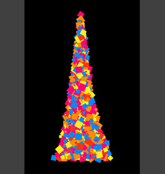 Colorful explosion confetti colored grainy vector