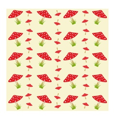 Colorful pattern with amanitas vector