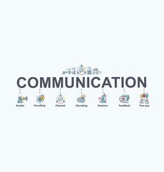 Communication banner web icon for business sender vector